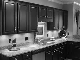 small kitchen black cabinets granite countertops amazing gray traditional painted wooden