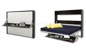 chambre modulable lit escamotable 140x200 cm avec bureau rabattable donny