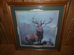 home interiors deer picture vintage home interior elk deer monarch of the glen 22 x 22 wood