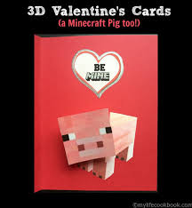 minecraft s day cards 3d s a minecraft pig my cookbook low carb