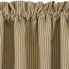 Ticking Stripe Curtains Black And Ticking Stripe Curtain Tiers Primitive 24 And