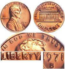 penny s 1971 s lincoln memorial cent doubled die obverse copper alloy