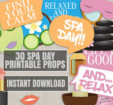 printable girly photo booth props 30 spa day printable props girls night in photo booth props girly