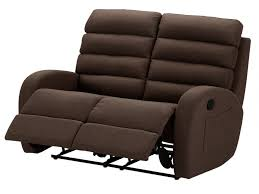 canap relax moderne canapé 2 places relax moderne en tissu chocolat turda