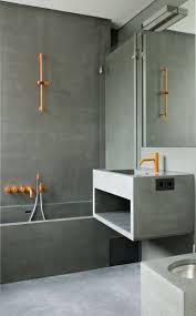 Concrete Floor Bathroom - banheiro decorado com cimento queimado casas de banho