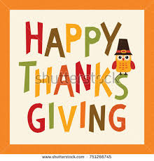 happy thanksgiving day card poster menu stock vector 751266745