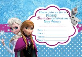 frozen birthday invitations printable frozen birthday invitations