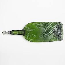 wine bottle serving tray ferns recycled wine bottle serving tray with built in bottle