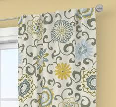 Waverly Curtains And Drapes Pair Of Rod Curtains Drapery Window 50 U0027 U0027 X 84 U0027 U0027 Waverly Spa Pom