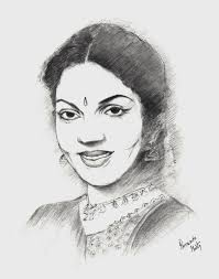 famous indian personalities of pencil sketching drawing of sketch