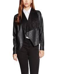 new look women u0027s waterfall suedette jacket amazon co uk clothing
