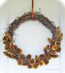 twig wreath day 10 twig and pinecone wreath 12 days of door decor fynes