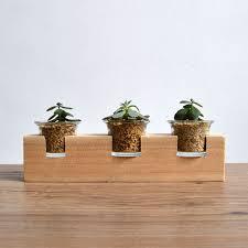 f handmade wooden flowerpot living landscape ornaments