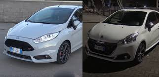peugeot little car fiesta st200 vs peugeot 208 gti acceleration test shows little