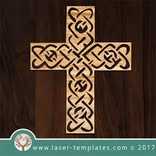 laser cut cross template pattern design free vector designs