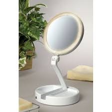 Small Vanity Mirror Bathroom Small Bathroom Design With Lighted Makeup Mirror And