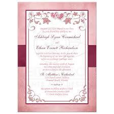 burgundy blush wedding invitation printed ribbon jewels
