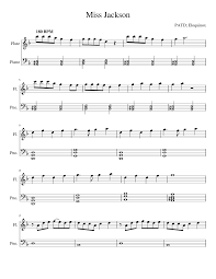 miss jackson patd eloquinox sheet music for woodwind piano