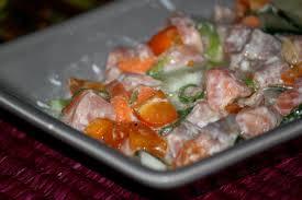 cuisine tahitienne saumon à la tahitienne karibo sakafo