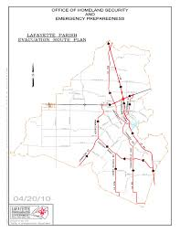 Louisiana Parish Map With Cities by Lafayette City Parish Ohsep