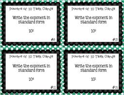 free powers of ten task cards 5 nbt 2 by teaching with a mountain