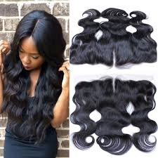 wave sew in wave lace frontal closure sew in remy human hair 13x4 ear to