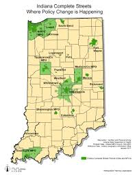 Indiana State Map Isdh Physical Activity