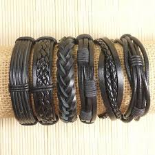 bracelet leather mens images Leather bracelets centerpieces bracelet ideas jpg