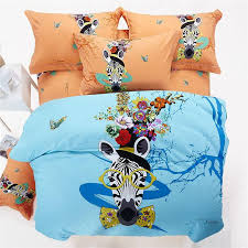 Queen Zebra Comforter Cute Kids Zebra Bedding Set King Size Queen Twin Quilt Duvet Cover