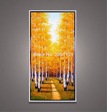 Fall Tree Decorations Online Buy Wholesale Autumn Tree Paintings From China Autumn Tree