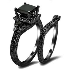 black wedding rings his and hers black wedding rings and chic inspirations elasdress