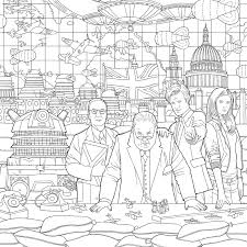 new doctor who travels in time colouring book released in the us
