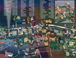 New Orleans Downtown Map by Las Vegas Strip Map And Downtown Las Vegas Fremont Street Casinos