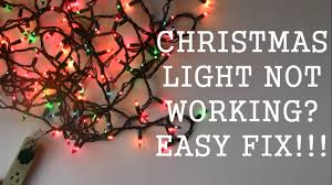 troubleshooting christmas tree lights how to repair christmas light not working easy fix youtube