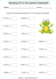 rounding to nearest hundred worksheet decimals to the nearest hundredth math worksheet for