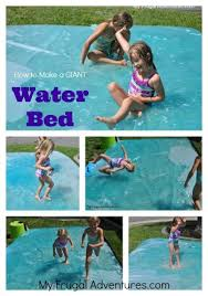 Backyard Games For Toddlers by How To Make A Giant Outdoor Water Bed Plays Water And Activities
