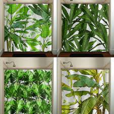 Hawaiian Curtain Fabric Tropical Jungle Green Palm Banana Leaf From Tablishedworks On