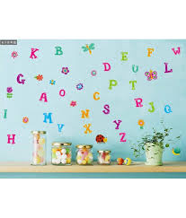 alphabet wall stickers for nursery home design ideas uberlyfe colorful butterfly flower alphabet baby nursery peel u0026 stick wall sticker for boys and