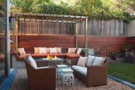 Nice Backyard Ideas by Fantastic Backyard Ideas With Stone Tiles Flooring Also Wooden
