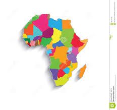 Blank African Map by Africa Political Colors Map Paper 3d Individual St Royalty Free