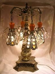 Chandalier Table Lamp Vintage Cherub Lamp Similiar To One My Parents Own Decorative