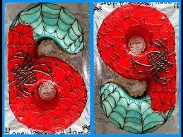 no 6 or 9 cake without a cake mold spiderman cake كيك على شكل