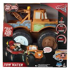 mater monster truck video amazon com disney pixar cars 3 tow mater truck push and pull up