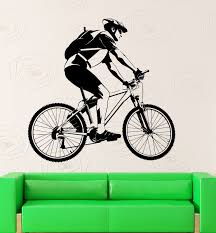 online get cheap sporting wall stickers aliexpress com alibaba 2016 new sport wall sticker vinyl decal bicycle sport bike race great room decor free shipping