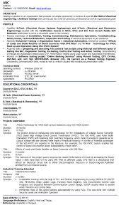 Sample Resume Headline For Freshers by Resume Headline For Fresher Electrical Engineer Free Resume
