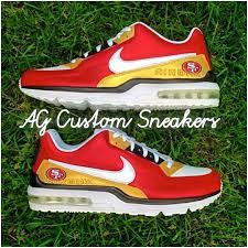 custom san francisco 49ers nike air max sneaker