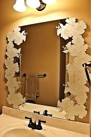 decorative frameless bathroom mirrors How to Make Decorative
