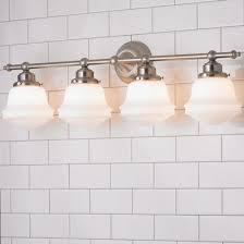 milk glass bathroom sconce shades of light
