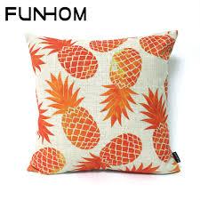 aliexpress com buy creative fruit colorful orange pineapple aliexpress com buy creative fruit colorful orange pineapple pillow cushion home decorative pillows waist pillow thick linen pillowcase sofa cushion from