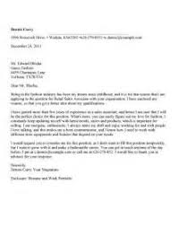 sample cover letter for retail job retail sales cover letter